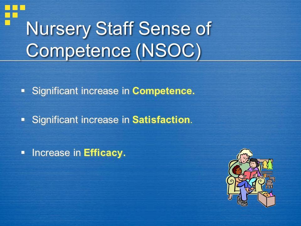 Nursery Staff Sense of Competence (NSOC)