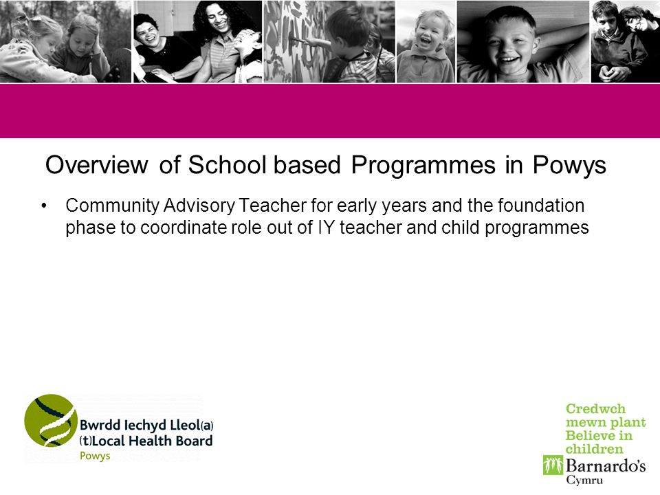 Overview of School based Programmes in Powys