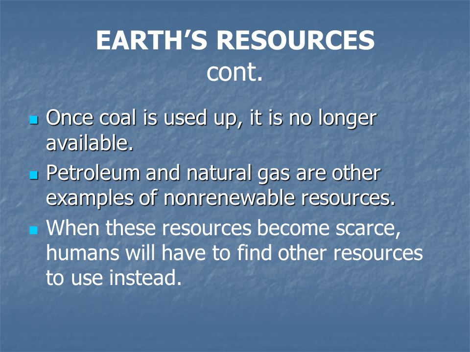 the world's natural resources become scarce The middle east has always had a rich abundance of natural resources,   always been an important resource in the middle east -- for its relative scarcity  rather  the united states was becoming an important player in world affairs  during the.