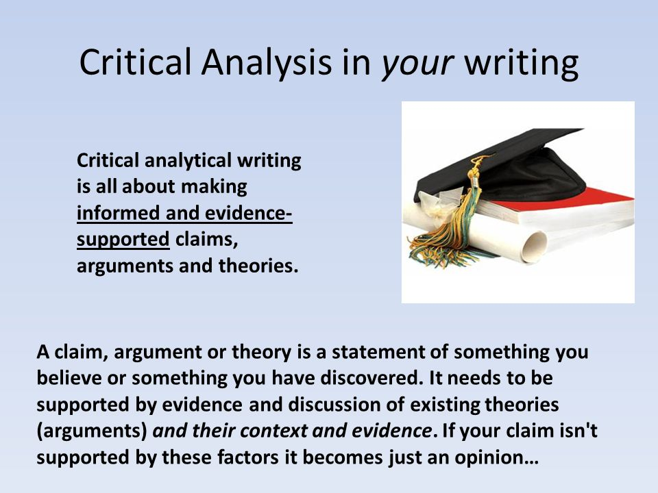 Critical Analysis And Thinking Skills  Ppt Download
