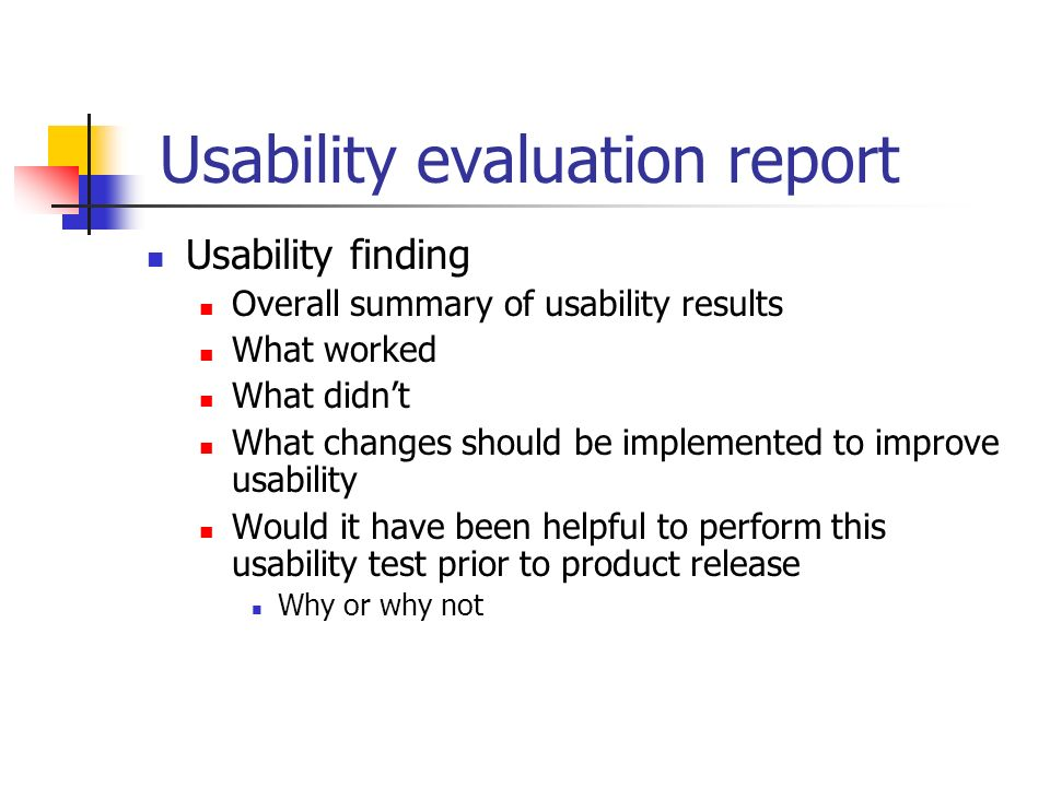 usability report It needs to stand in for the entire report in discount usability testing the perfect report: how to write it so that people want to read it user experience.