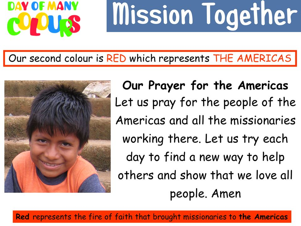 Our second prayer is for the Americas.
