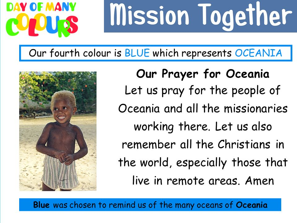 Our Prayer for Oceania