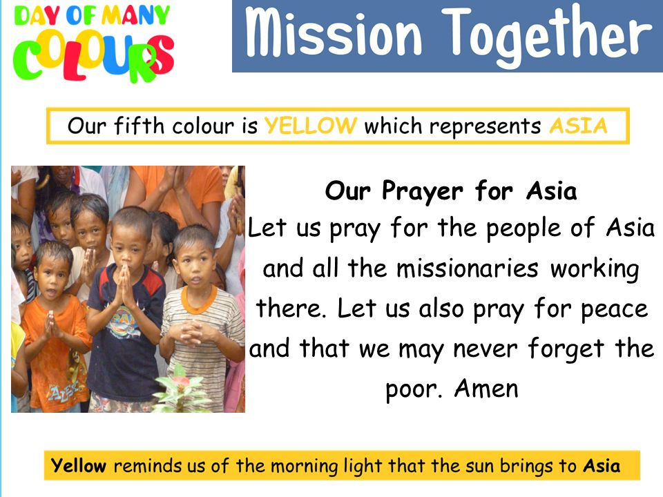 Our Prayer for Asia