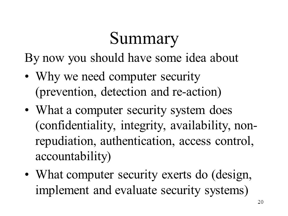 Summary By now you should have some idea about