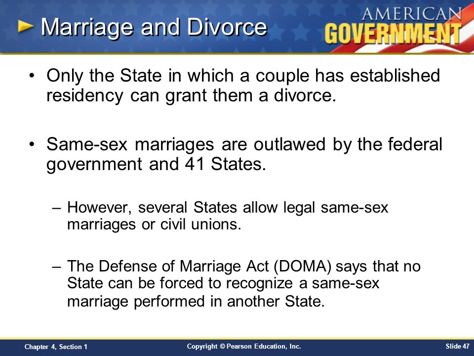 same sex marriage and the government