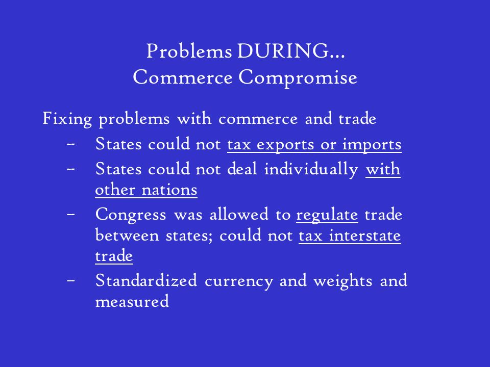 Problems DURING… Commerce Compromise