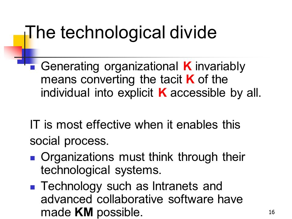 The technological divide