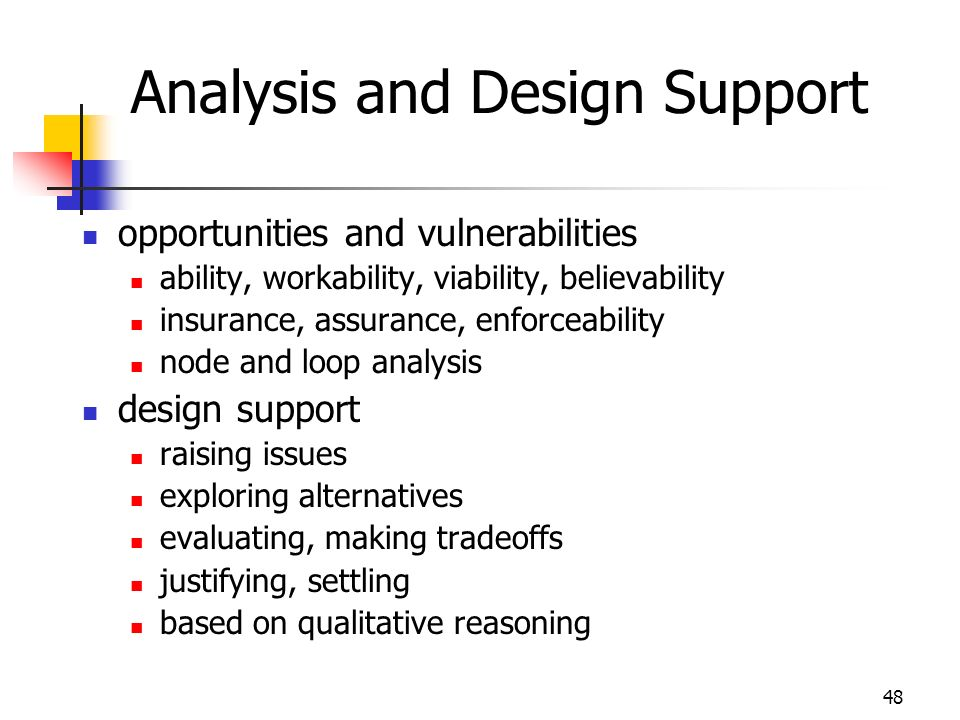 Analysis and Design Support