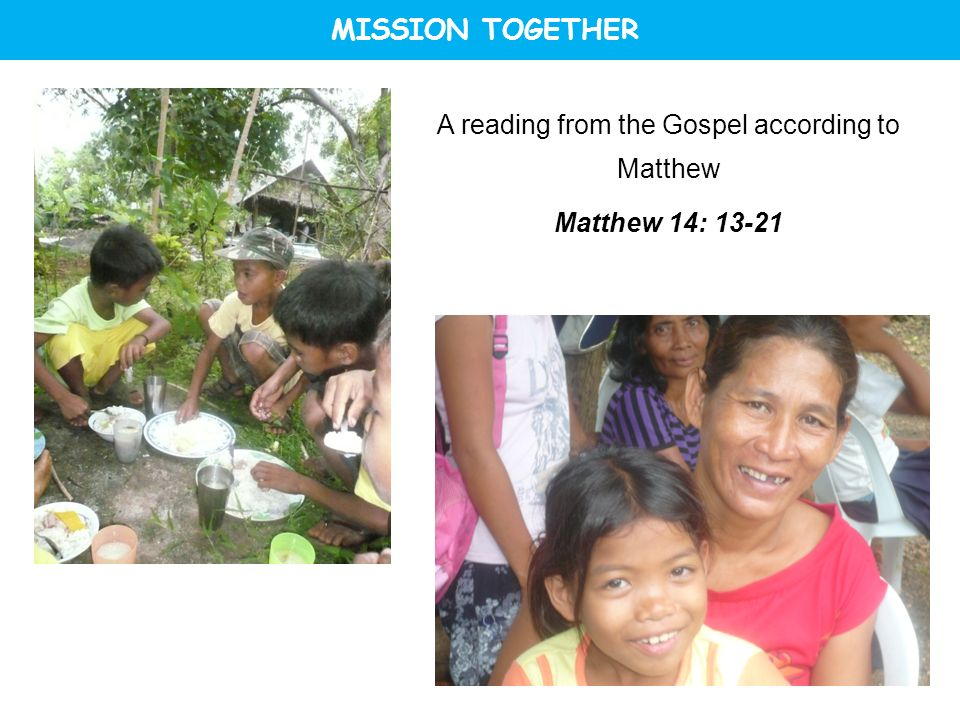 A reading from the Gospel according to Matthew