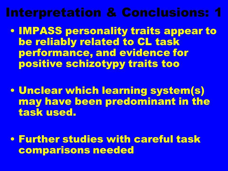 Interpretation & Conclusions: 1
