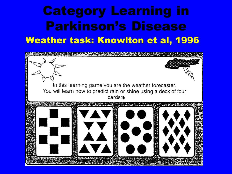Category Learning in Parkinson's Disease