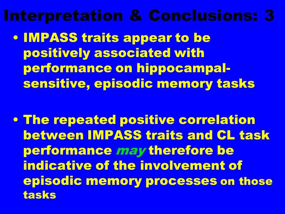 Interpretation & Conclusions: 3