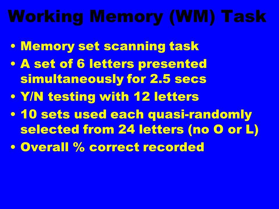 Working Memory (WM) Task