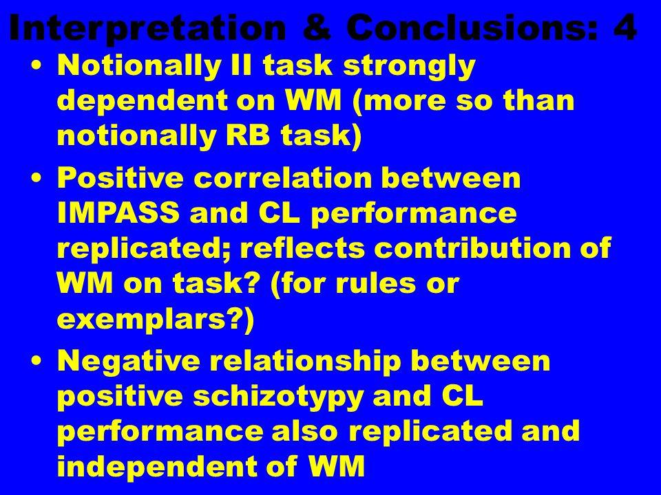Interpretation & Conclusions: 4