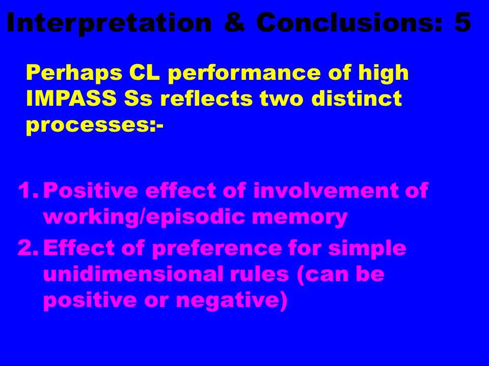 Interpretation & Conclusions: 5