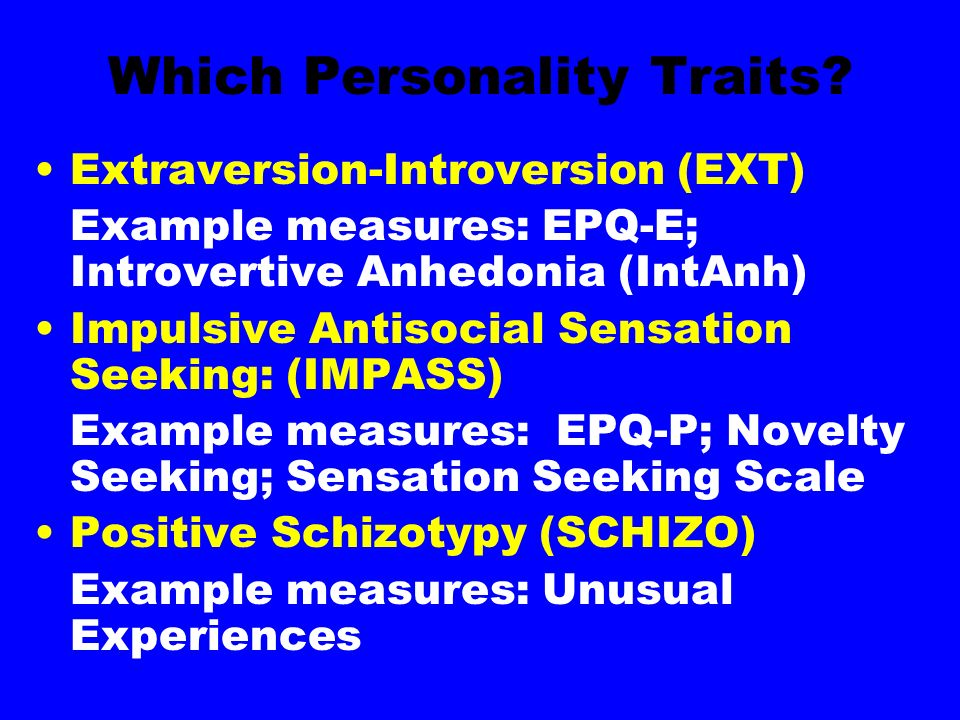 Which Personality Traits