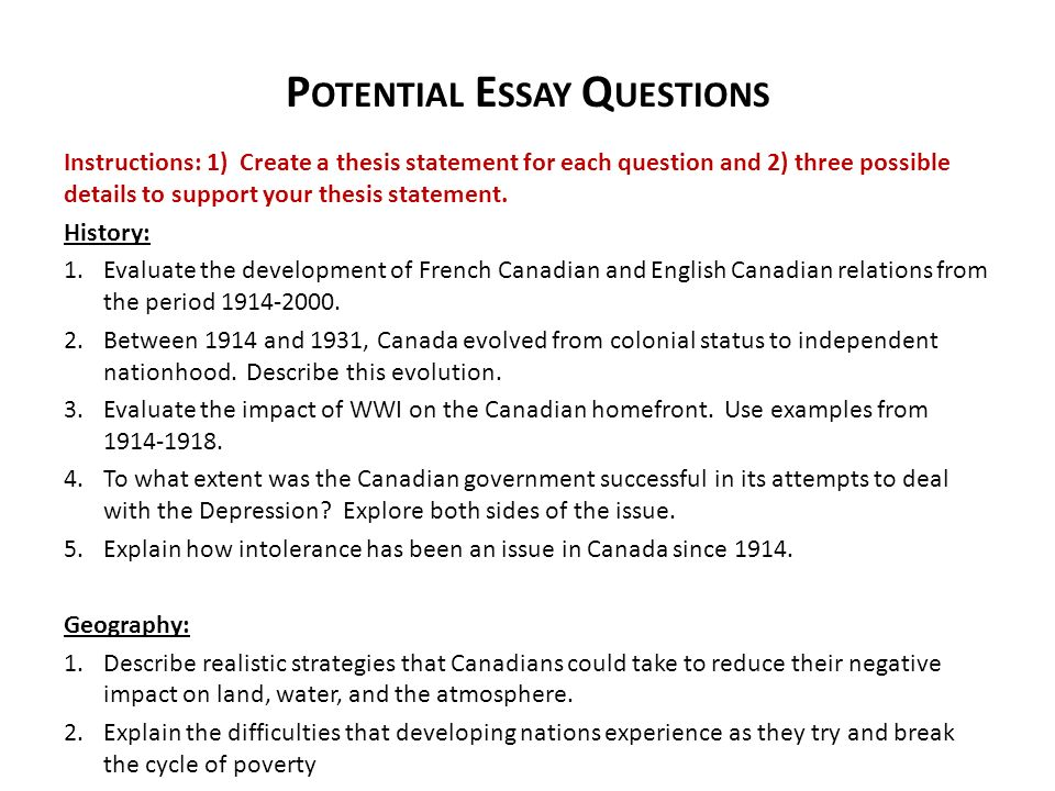 leadership potential essay question Free leadership papers, essays,  quality leadership questions allow the leader and their team the opportunity to plan effectively and properly analyze the goals of .