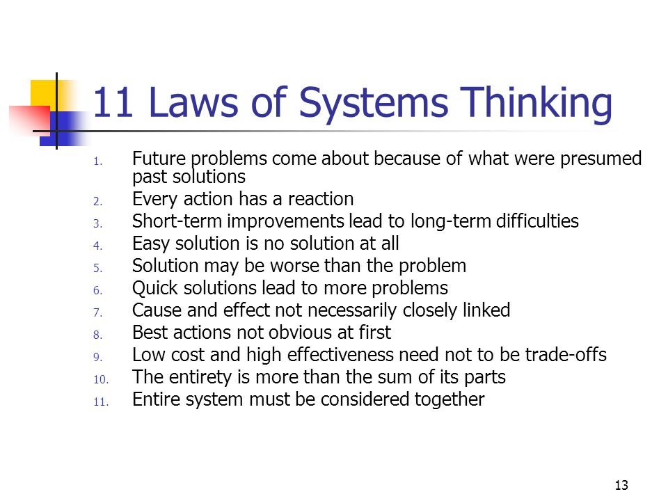11 Laws of Systems Thinking