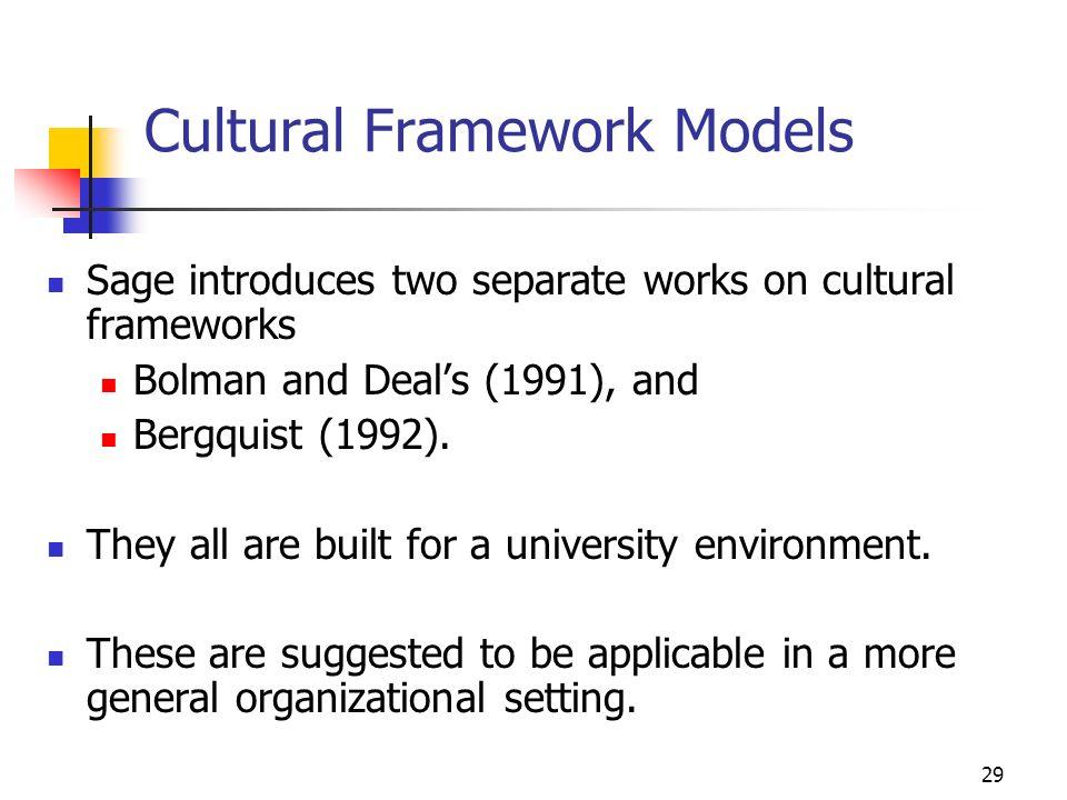 Cultural Framework Models