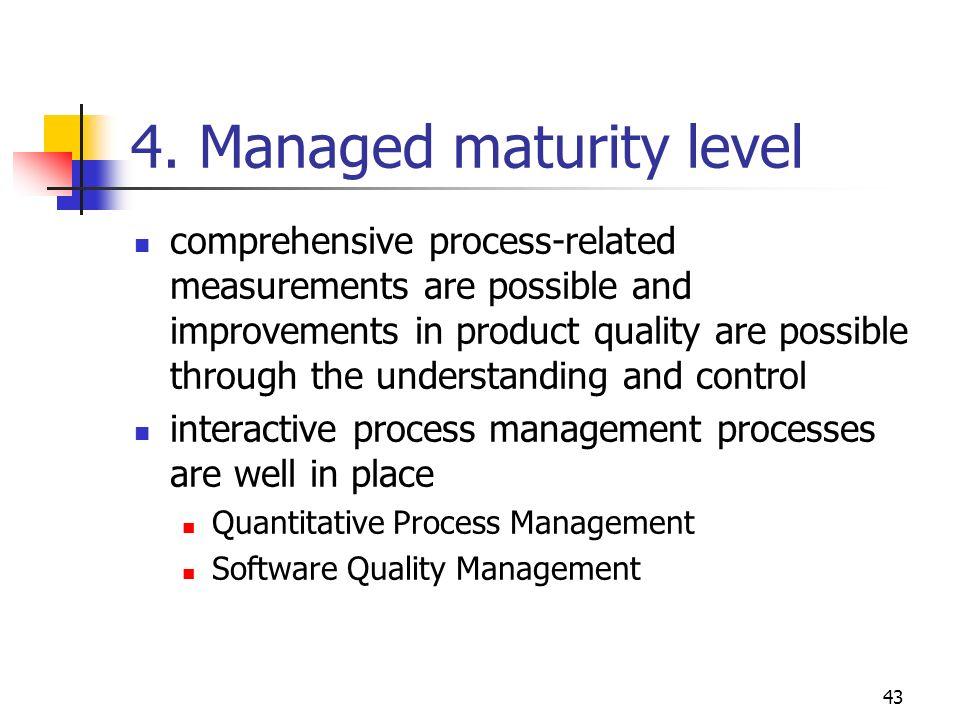 4. Managed maturity level
