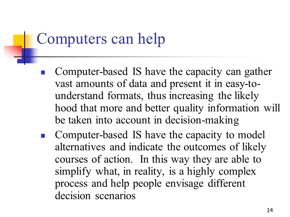 Computers can help