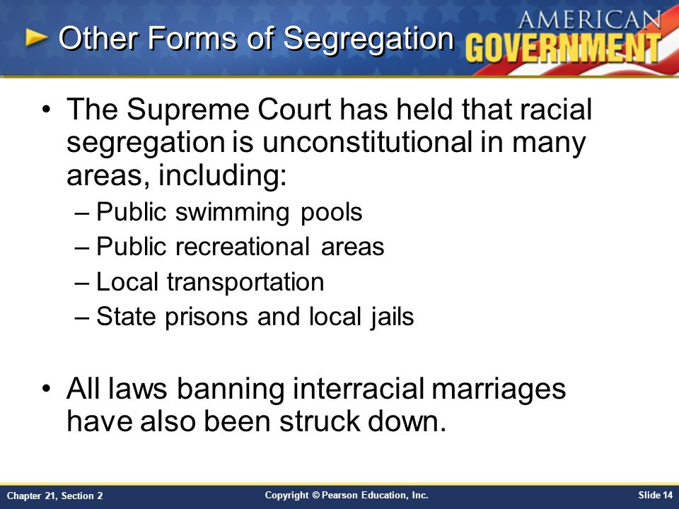 Chapter 21: Civil Rights: Equal Justice Under Law Section 2 - ppt ...