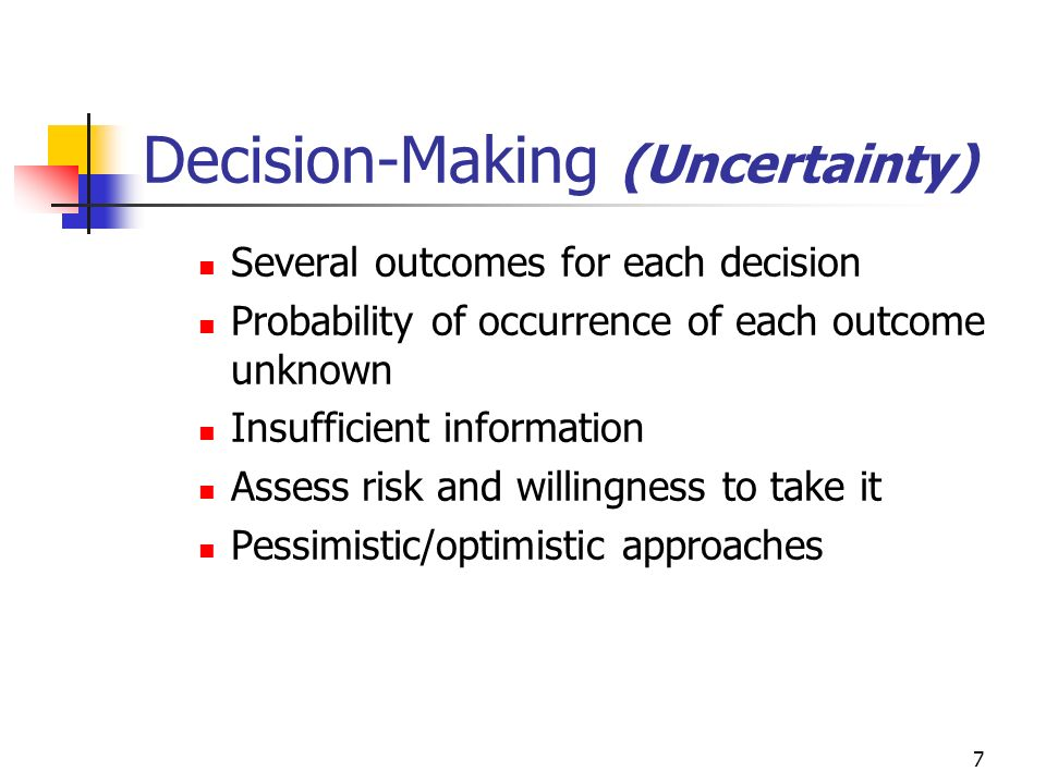 Decision-Making (Uncertainty)