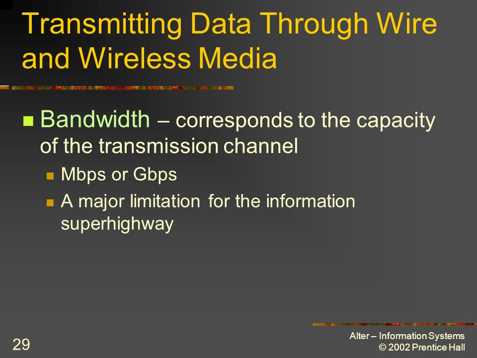 Transmitting Data Through Wire and Wireless Media