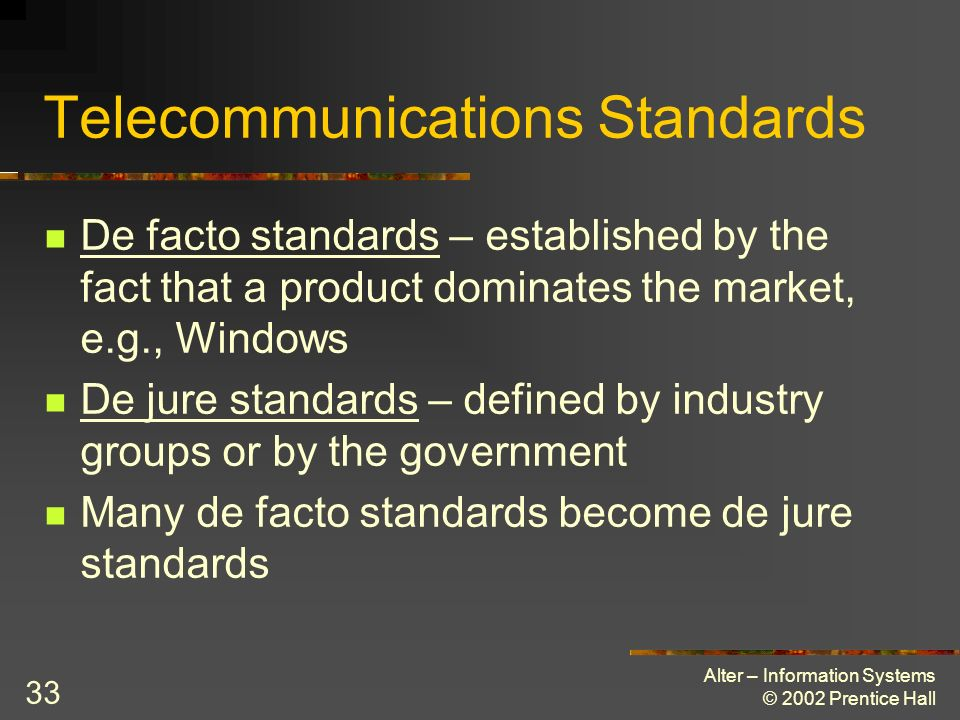 Telecommunications Standards