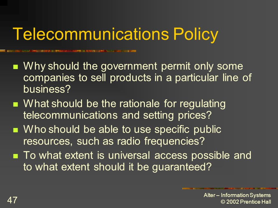 Telecommunications Policy