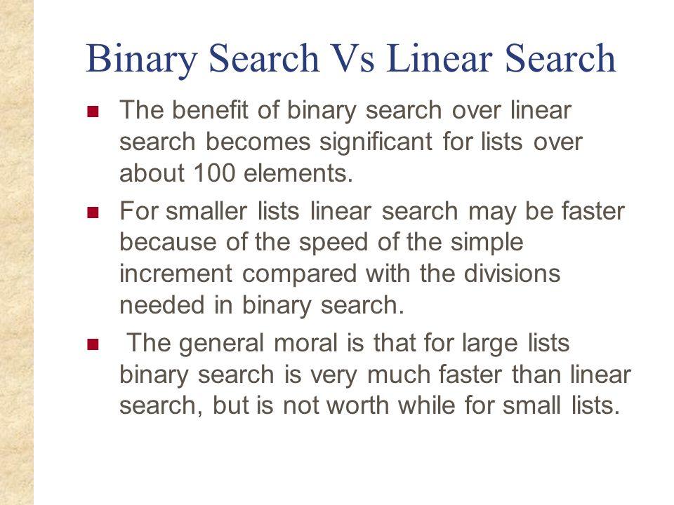 Binary Search Vs Linear Search
