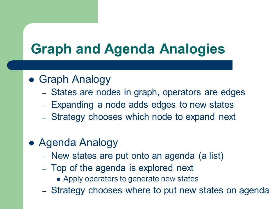 Graph and Agenda Analogies