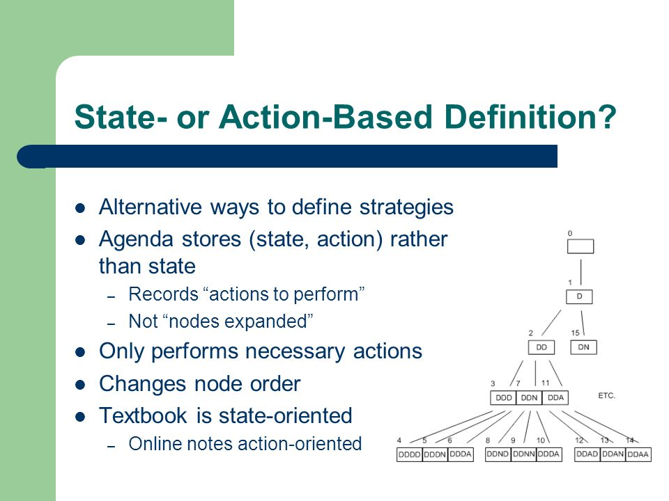 State- or Action-Based Definition