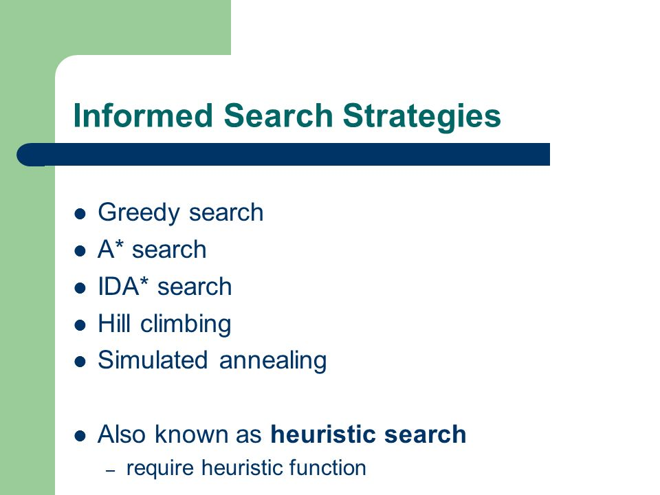 Informed Search Strategies
