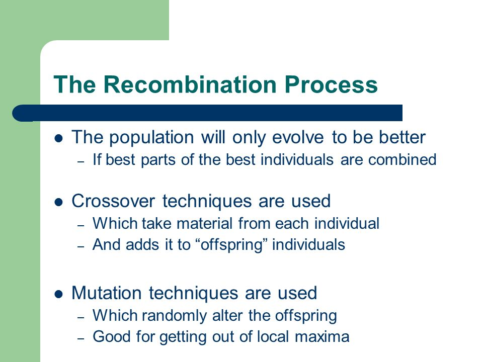 The Recombination Process
