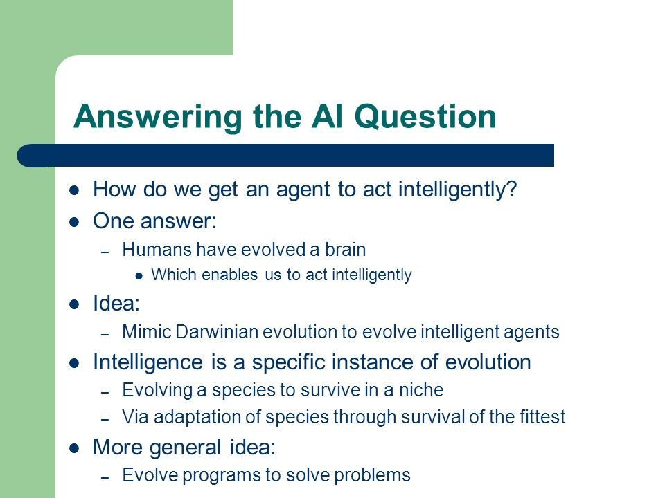 Answering the AI Question
