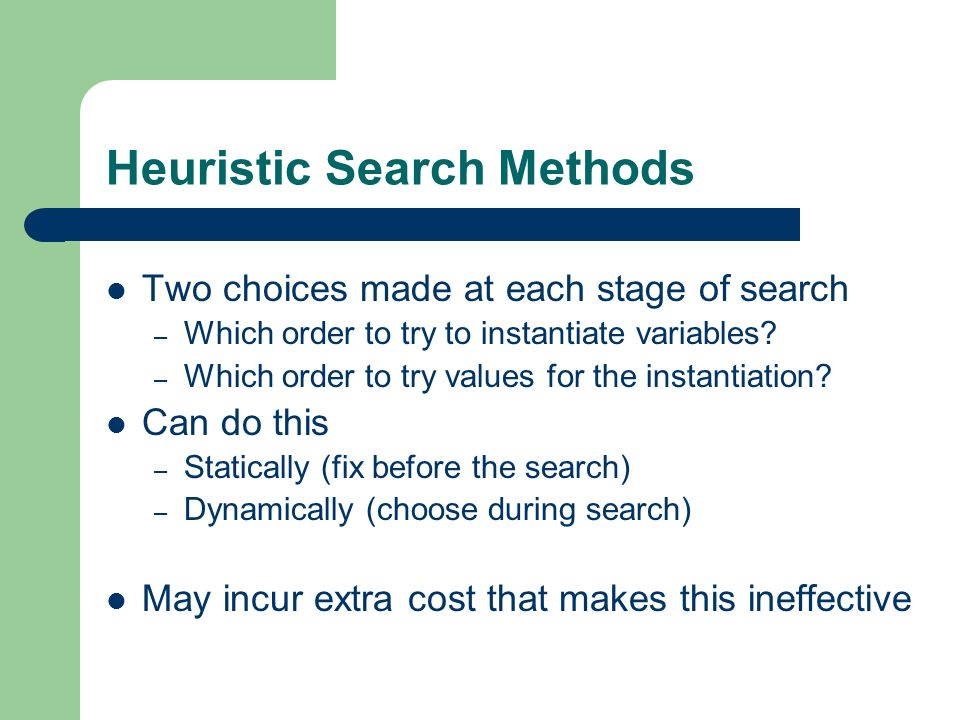 Heuristic Search Methods