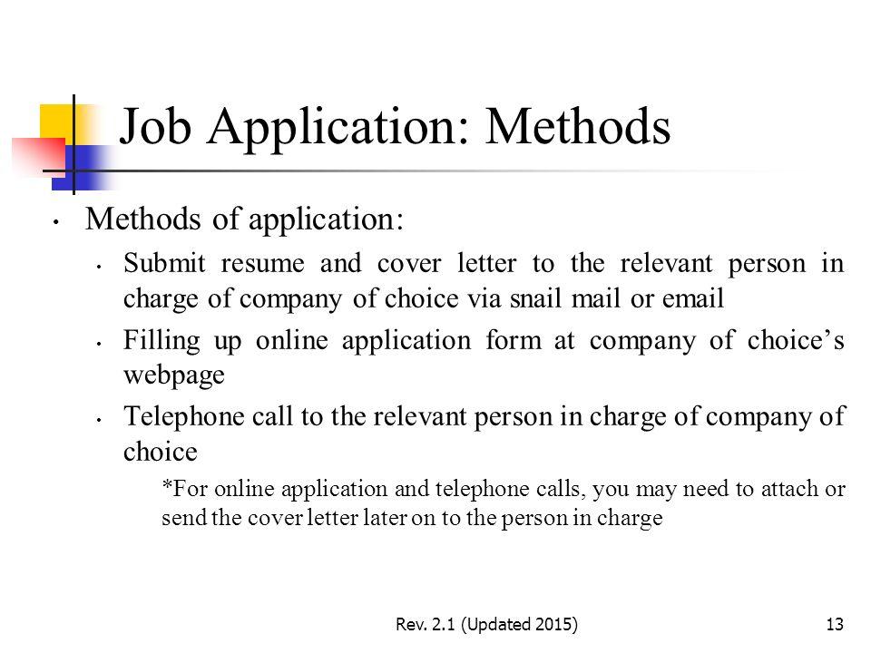 industrial training briefing 01  job application