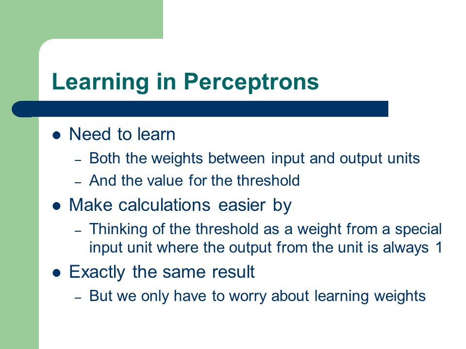 Learning in Perceptrons