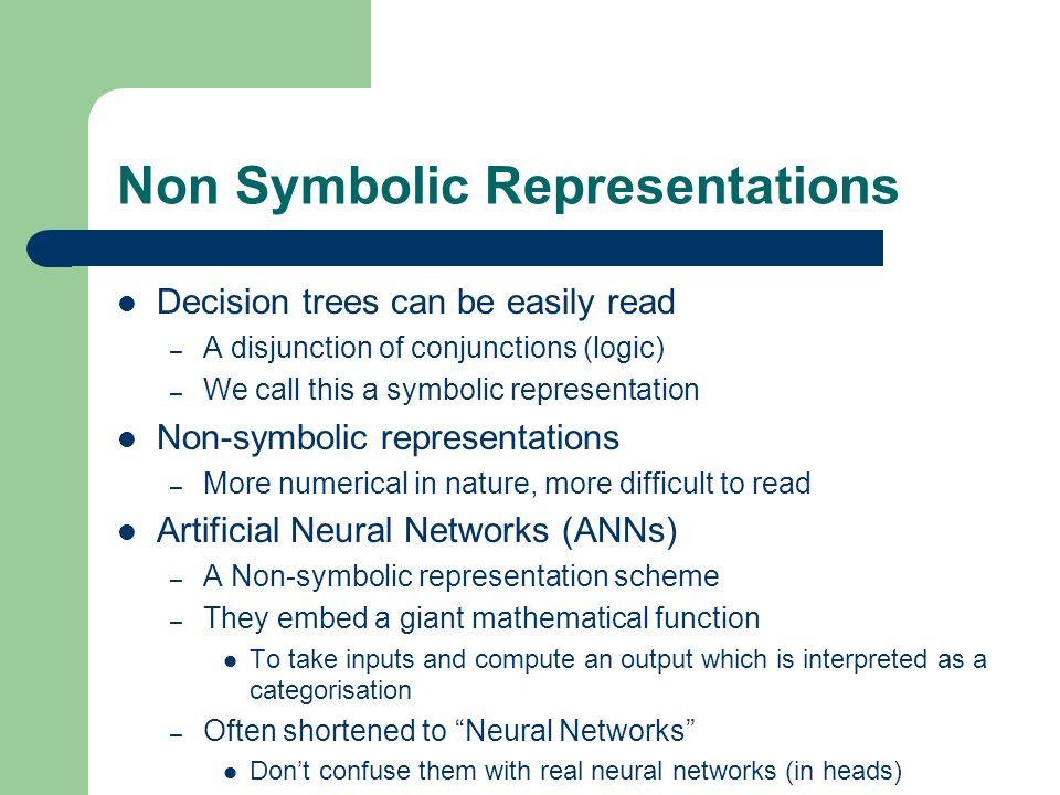 Non Symbolic Representations