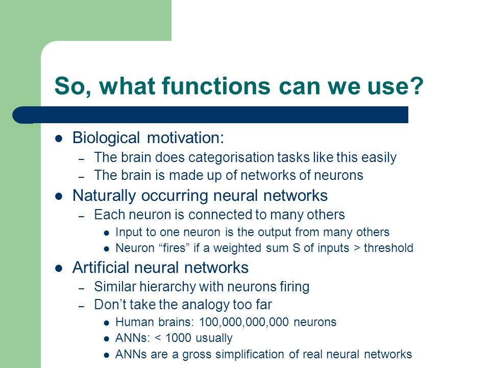 So, what functions can we use