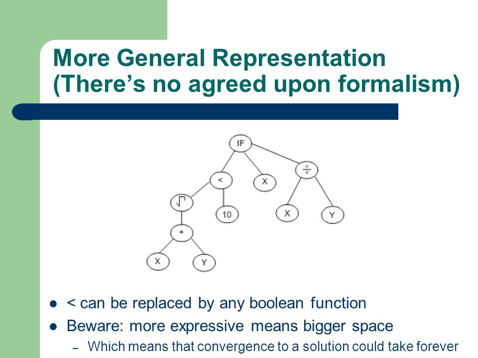 More General Representation (There's no agreed upon formalism)