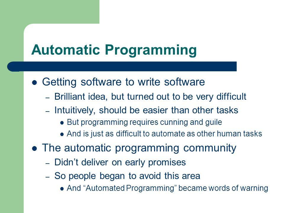 Automatic Programming