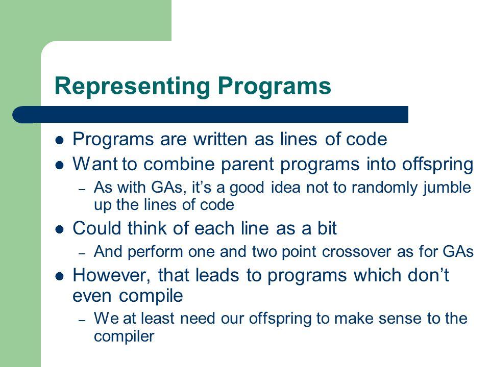 Representing Programs