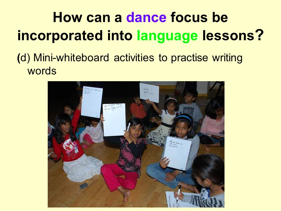 How can a dance focus be incorporated into language lessons