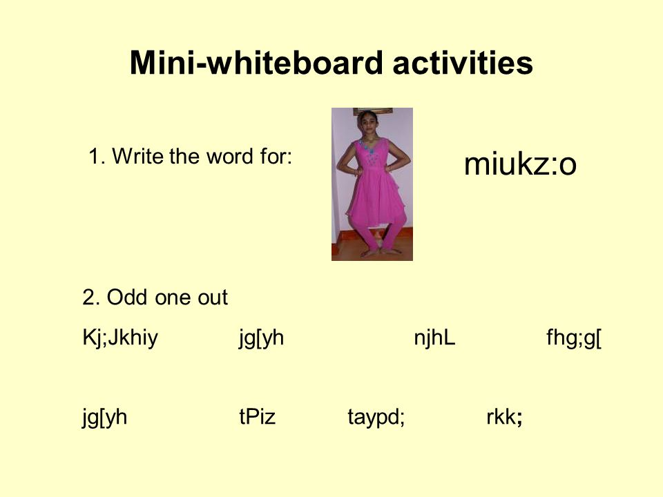 Mini-whiteboard activities