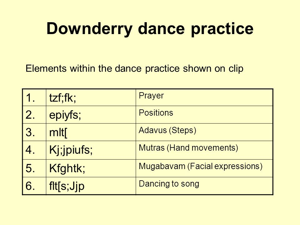 Downderry dance practice