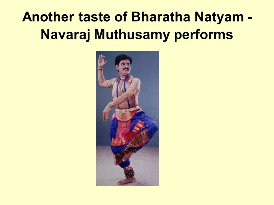 Another taste of Bharatha Natyam - Navaraj Muthusamy performs