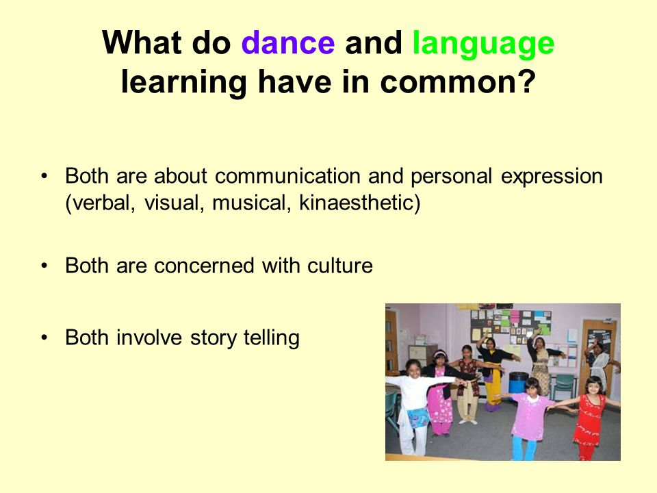 What do dance and language learning have in common
